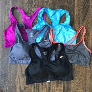 Lot of 5 Champion sorts bras